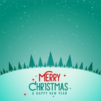 Prachtige kerstboom winter landschap achtergrond