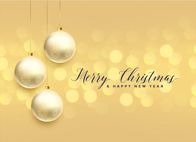 Prachtige kerstmis bal decoratie bokeh achtergrond