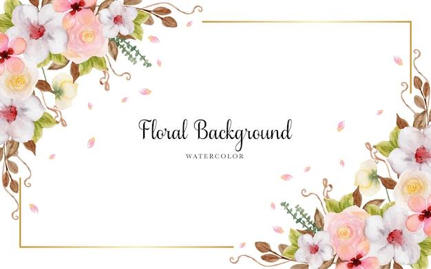 Prachtige kleurrijke bloemenachtergrond