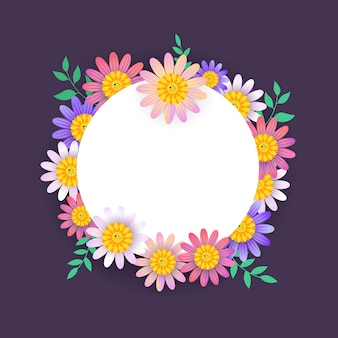 Prachtige lente banner met kleurrijke bloem