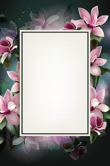 Prachtige lente bloem achtergrond sjabloon met kopie ruimte en frame