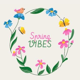 Prachtige lente bloemen frame