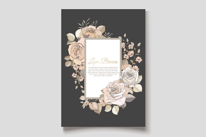 Prachtige lente bloemen uitnodigingskaartenset