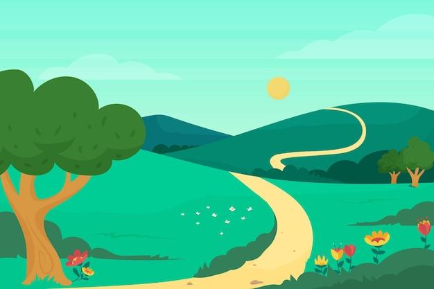 Prachtige lente landschap-achtergrond
