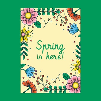 Prachtige lente partij poster