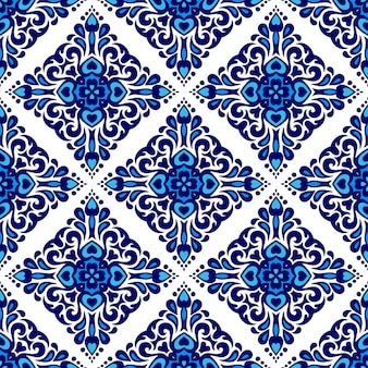 Prachtige naadloze mediterrane tegel islamitische achtergrond vector