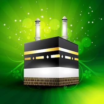 Prachtige qaaba sharif vector illustratie