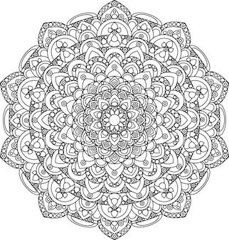 Prachtige sierlijke vintage mandala vectorillustratie