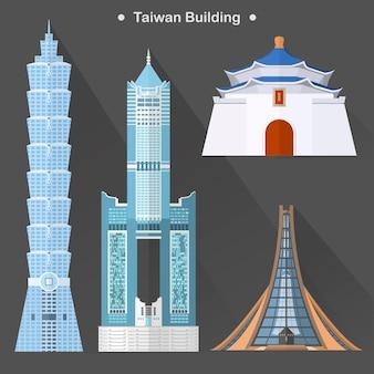 Prachtige taiwanese architectuurcollectie