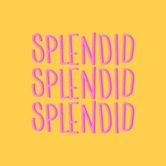 Prachtige typografie geïllustreerd op een gele achtergrond