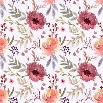 Prachtige vintage bloemen aquarel naadloze patroon