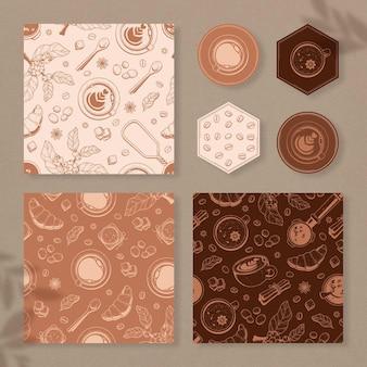 Prachtige vintage koffie patroon collectie