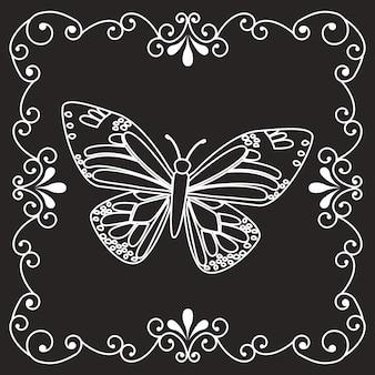Prachtige vlinderlijst