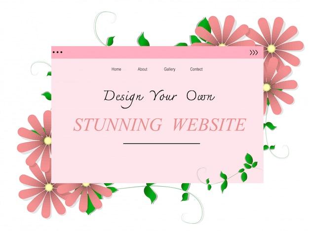 Prachtige website ontwerp vector
