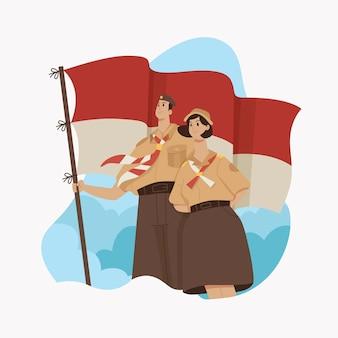 Pramuka dag illustratie