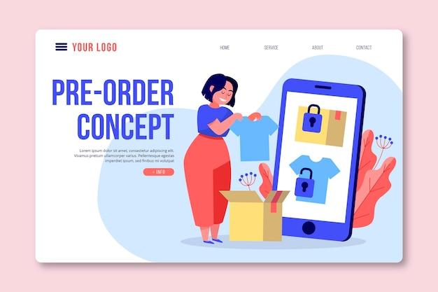 Pre-order concept homepage