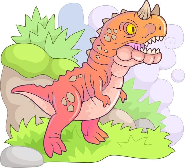 Prehistorische dinosaurus carnotaurus