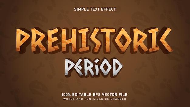 Prehistorische oude periode teksteffect