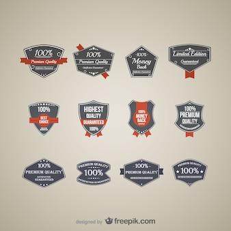 Premie vector stickers