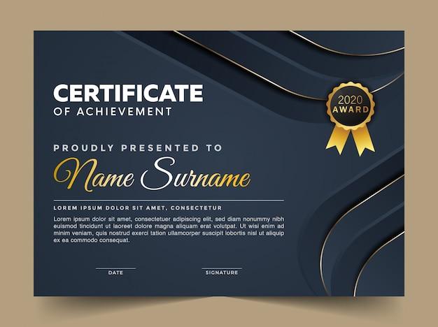 Premium abstract certificaat ontwerpsjabloon