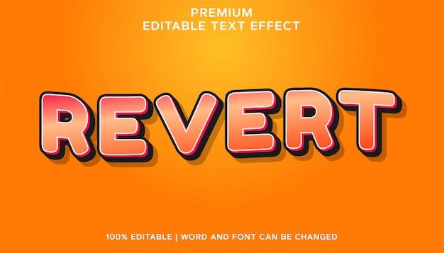 Premium bewerkbaar lettertype-teksteffect terugzetten