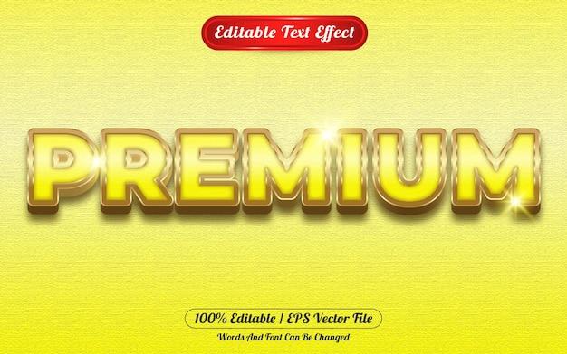Premium bewerkbaar teksteffect gouden thema