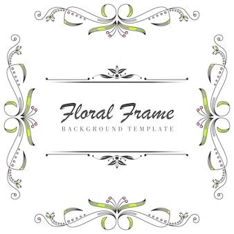 Premium bloemen sierlijst sjabloon