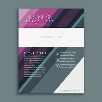 Premium business brochure flyer design template in a4-formaat