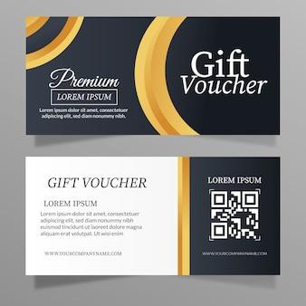 Premium cadeaubon sjabloon gouden stijl