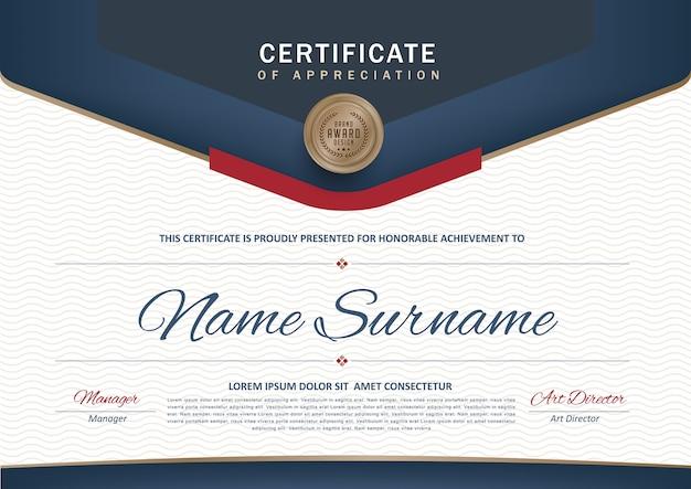Premium certificaat diploma sjabloon
