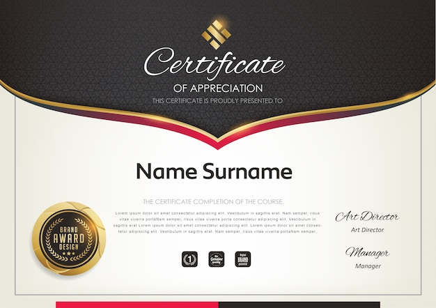Premium certificaatsjabloon