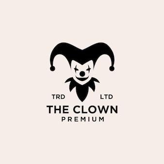 Premium clown joker logo pictogram ontwerp vectorillustratie