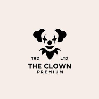 Premium clown / joker logo pictogram ontwerp vectorillustratie