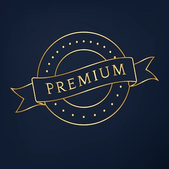 Premium collectie badge ontwerp vector