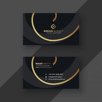 Premium donker visitekaartje ontwerp