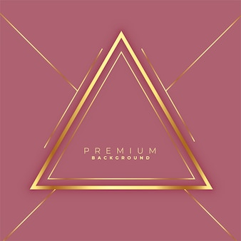 Premium driehoeken gouden lijnen frame achtergrond
