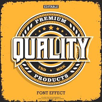 Premium embleemlogo met gedetailleerde elementen