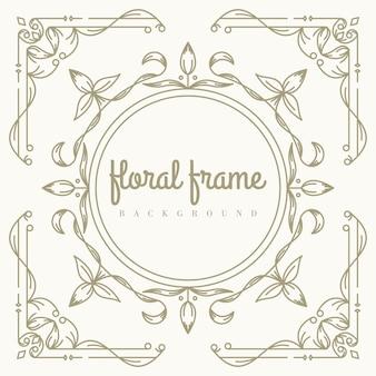 Premium floral frame achtergrond