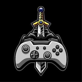 Premium gaming-logo voor avontuur