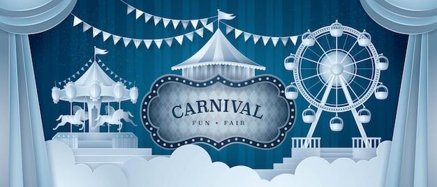 Premium gordijnen podium met circus frame