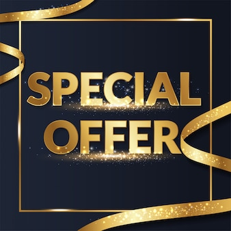 Premium goud speciale aanbieding verkoop promotie banner voor sociale media