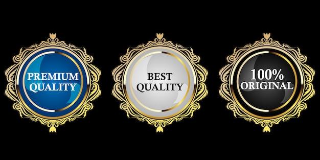 Premium gouden badge