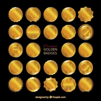 Premium gouden badges