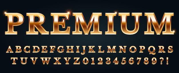 Premium gouden lettertype