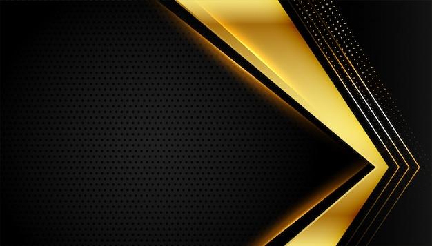 Premium gouden lijnen op zwart donker
