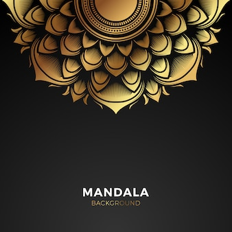 Premium gouden mandala achtergrond