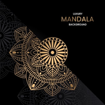 Premium gouden mandala-achtergrond