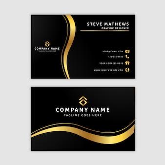 Premium gouden visitekaartje sjabloon
