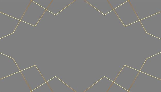 Premium grijze achtergrond met gouden lijnen