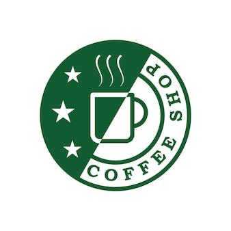 Premium groen koffie-logo